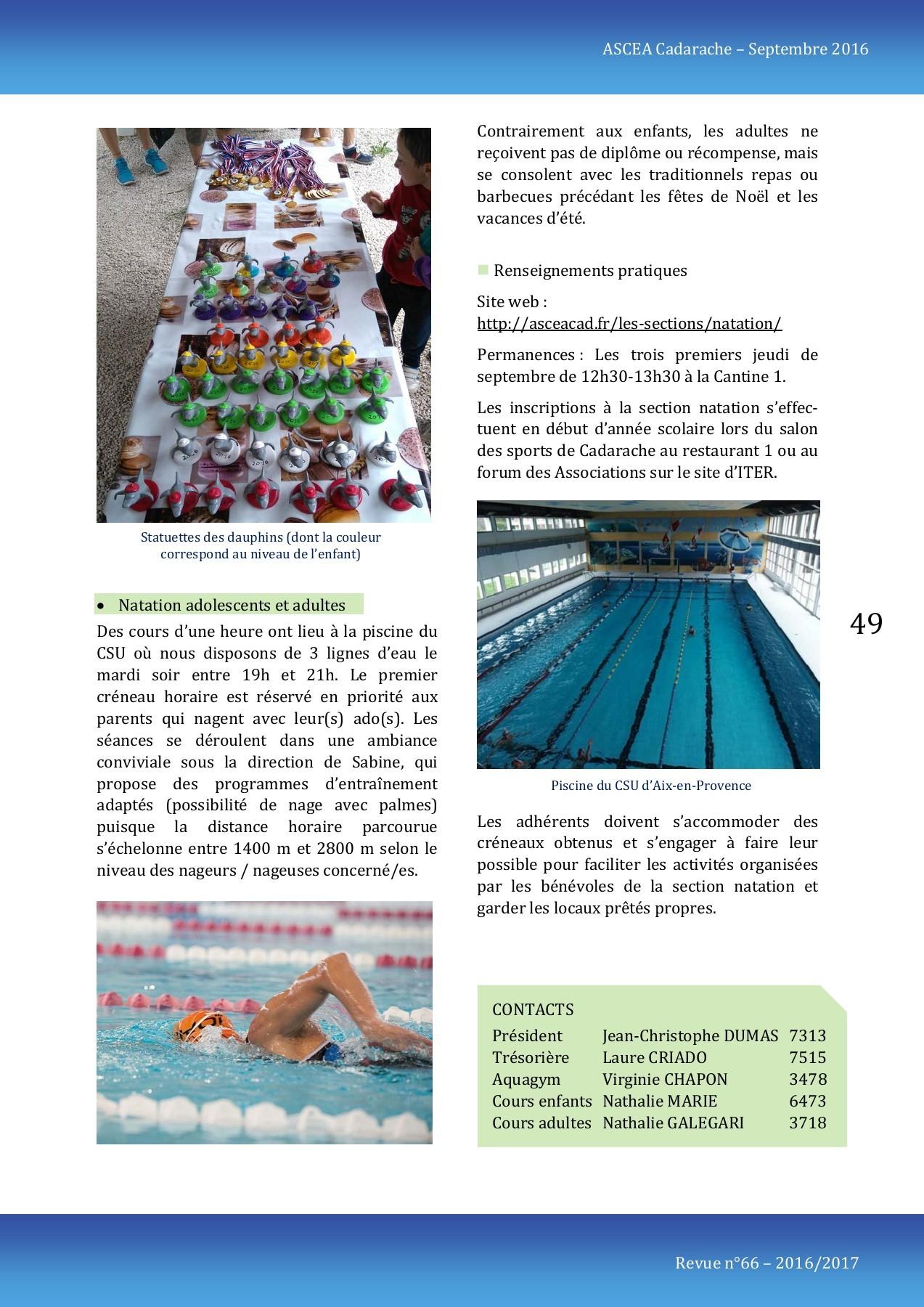 Revue Ascea 2016-2017 Pages 51 - 66 - Text Version | Fliphtml5 destiné Salon De La Piscine 2017