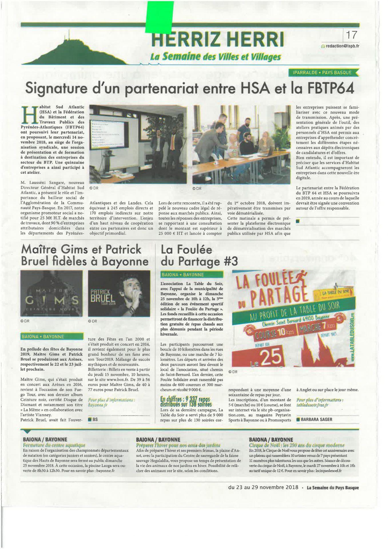 Revue De Presse - Habitat Sud Atlantic - L'office ... encequiconcerne Centre Aquatique Des Hauts De Bayonne Piscine Bayonne