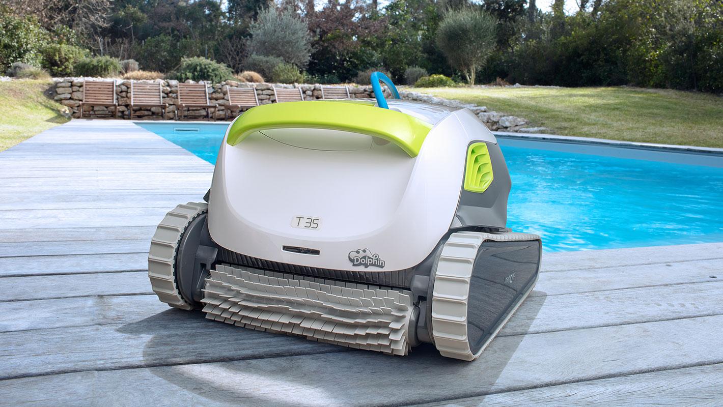 Robot De Piscine Dolphin T35 | Ultra Performant Pour Une Eau ... pour Robot Piscine Leroy Merlin