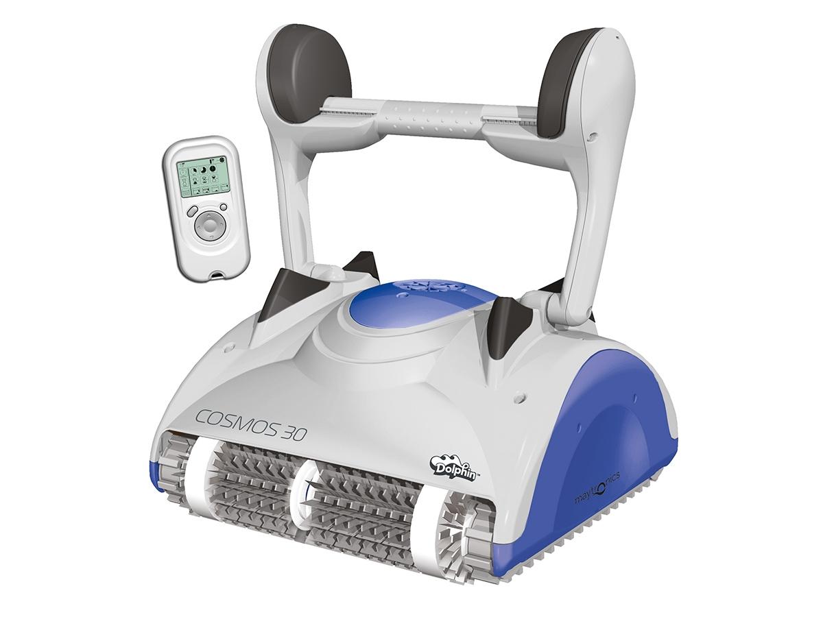 Robot De Piscine Électrique Cosmos 30 + Chariot - Dolphin avec Robot De Piscine Electrique