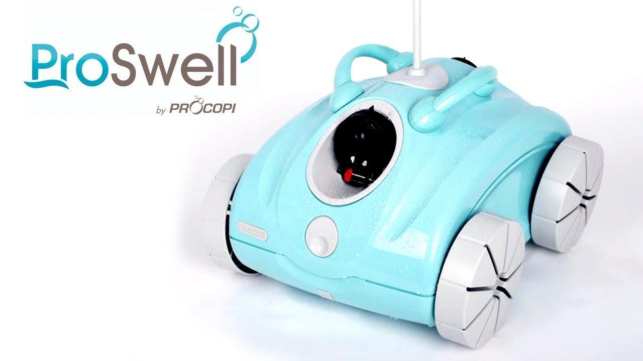 Robot Piscine Électrique Clean & Go E15 E20 Proswell - Présentation -  Robotpiscine.fr avec Piscine Proswell