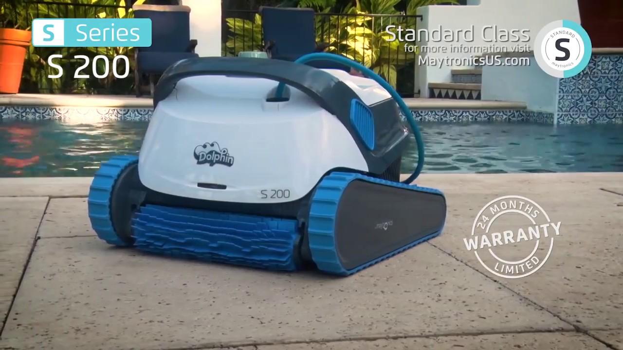 Robot Piscine Électrique Dolphin S200 - Démonstration -  Marchédelapiscine destiné Robot Piscine Dolphin S200
