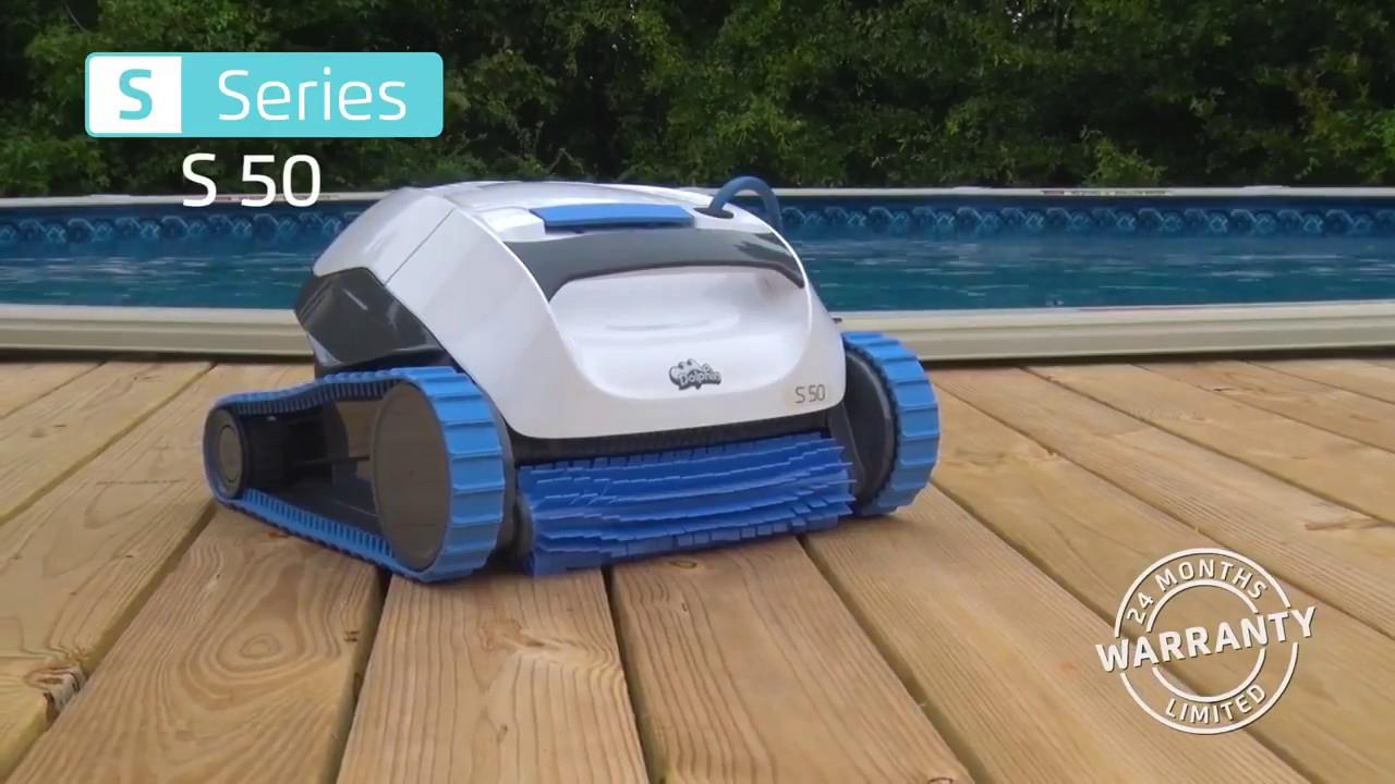 Robot Piscine Hors Sol Dolphin S50 - Démonstration - Robotpiscine.fr destiné Robot Piscine Hors Sol Intex