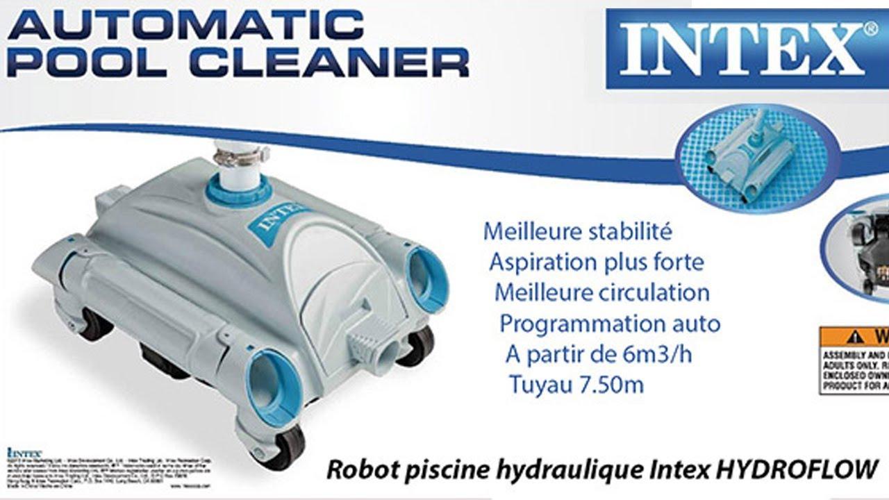 Robot Piscine Hydraulique Intex Hydroflow À Aspiration Hors Sol -  Robotpiscine.fr destiné Robot Piscine Hors Sol Intex