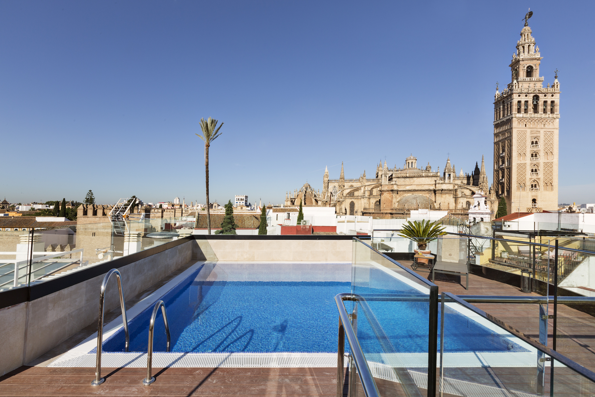 Rooftop Swimming Pool Seville - Hotel Casa 1800 Sevilla pour Hotel Seville Piscine