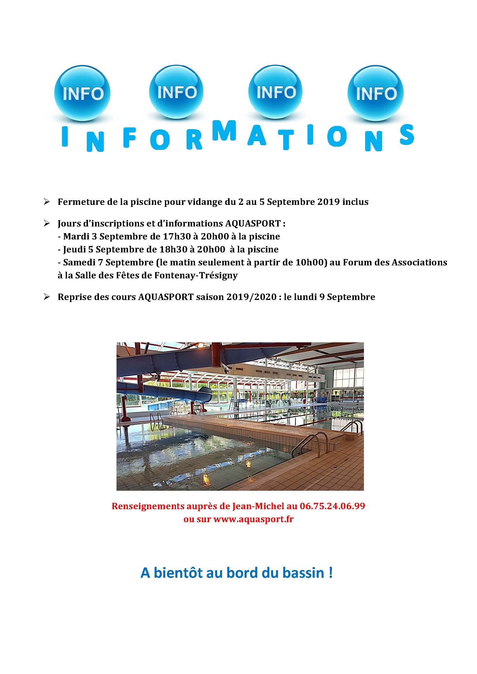S De La Rentrée - Aquasport à Piscine De Fontenay Trésigny