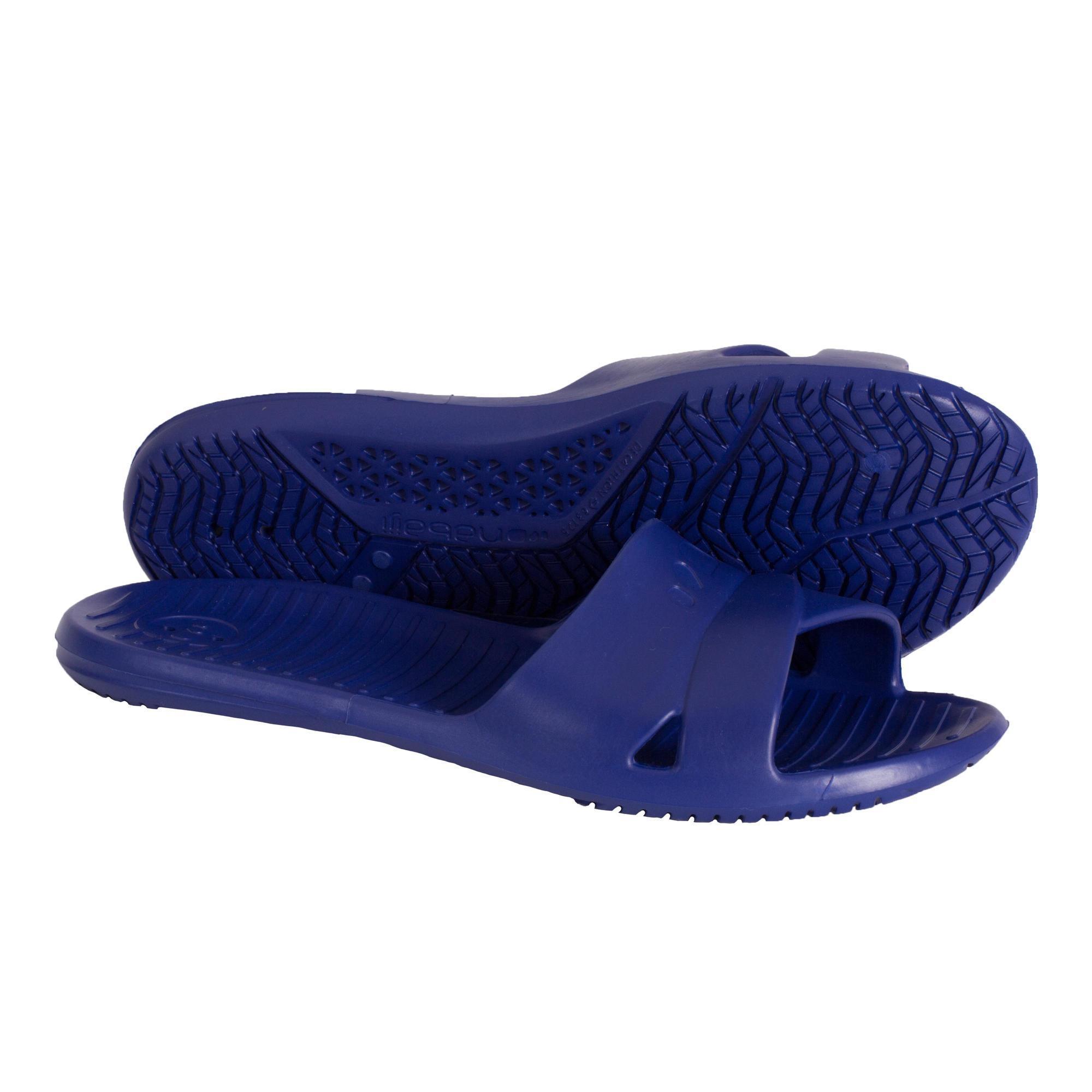 Sandales De Piscine Femme Slap 100 Basic Bleu Fonce concernant Sandales De Piscine