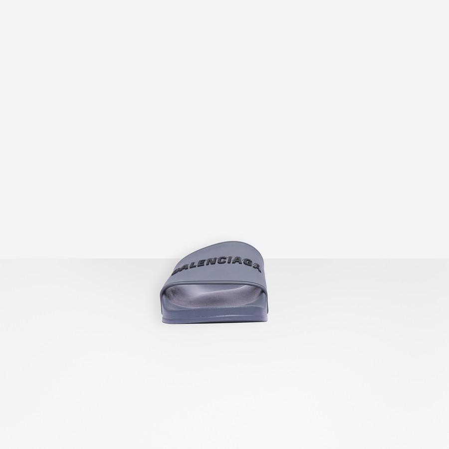 Sandales Piscine Grey/black Pour Homme | Balenciaga encequiconcerne Sandales De Piscine