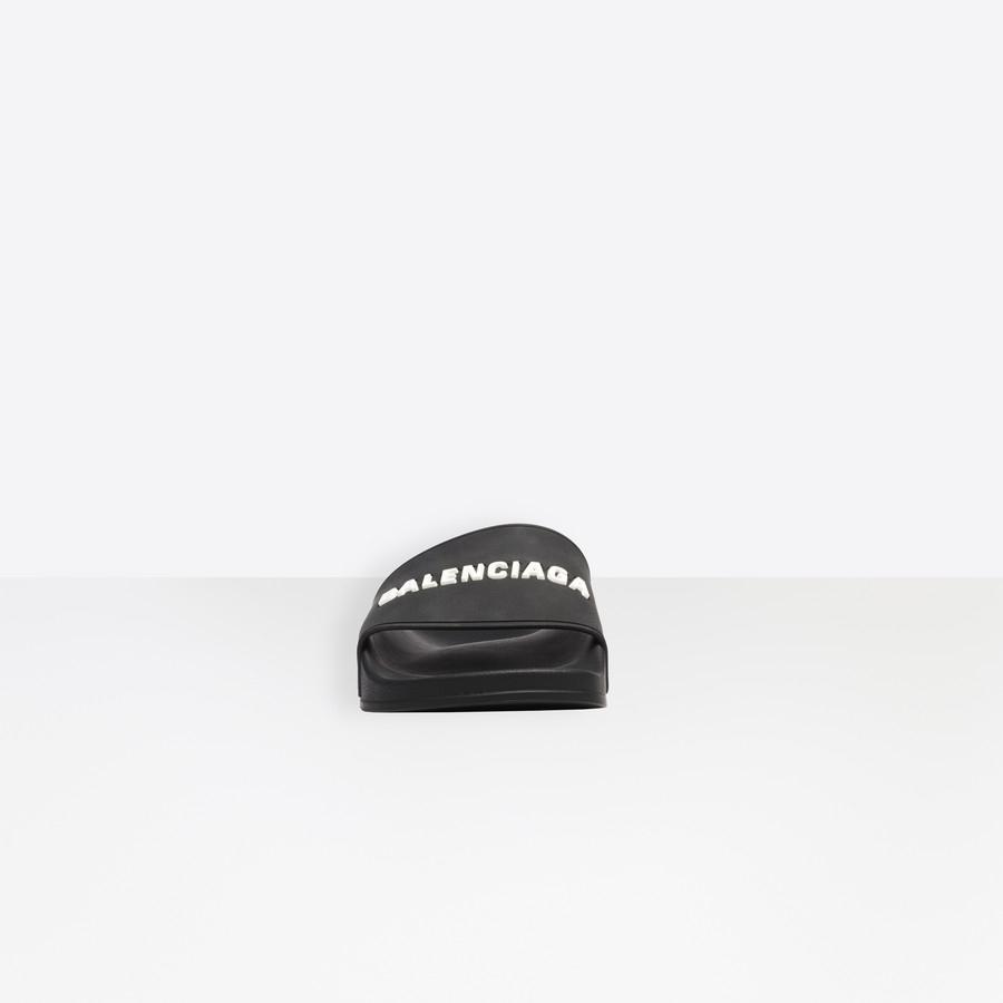 Sandales Piscine Noir / Blanc Pour Homme | Balenciaga pour Sandales De Piscine