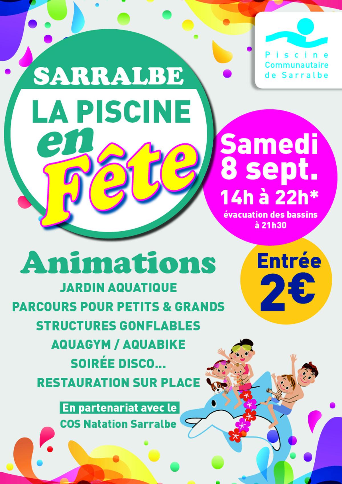 Sarralbe : La Piscine En Fête Ce Samedi ! - Radio Mélodie dedans Piscine Sarralbe