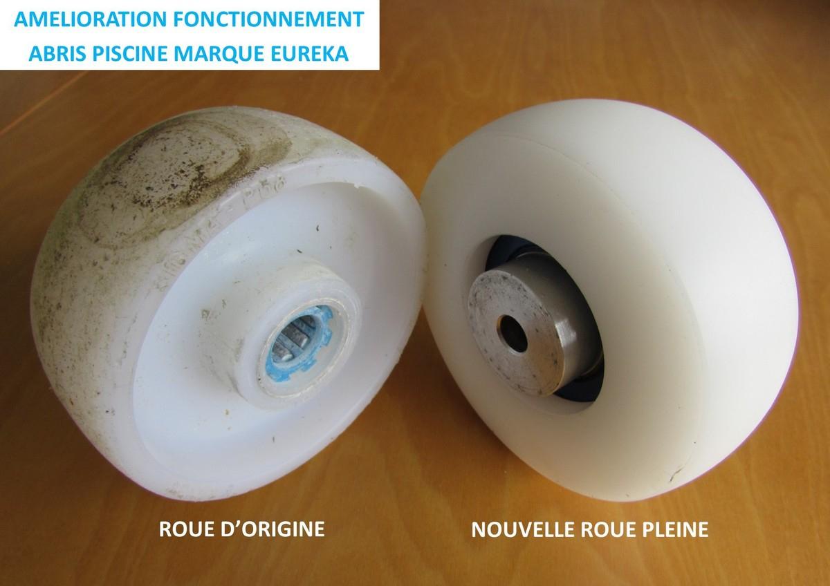 Sav Abri De Piscine Marque Eureka - Nouvelles Roulettes ... concernant Reparation Abri Piscine