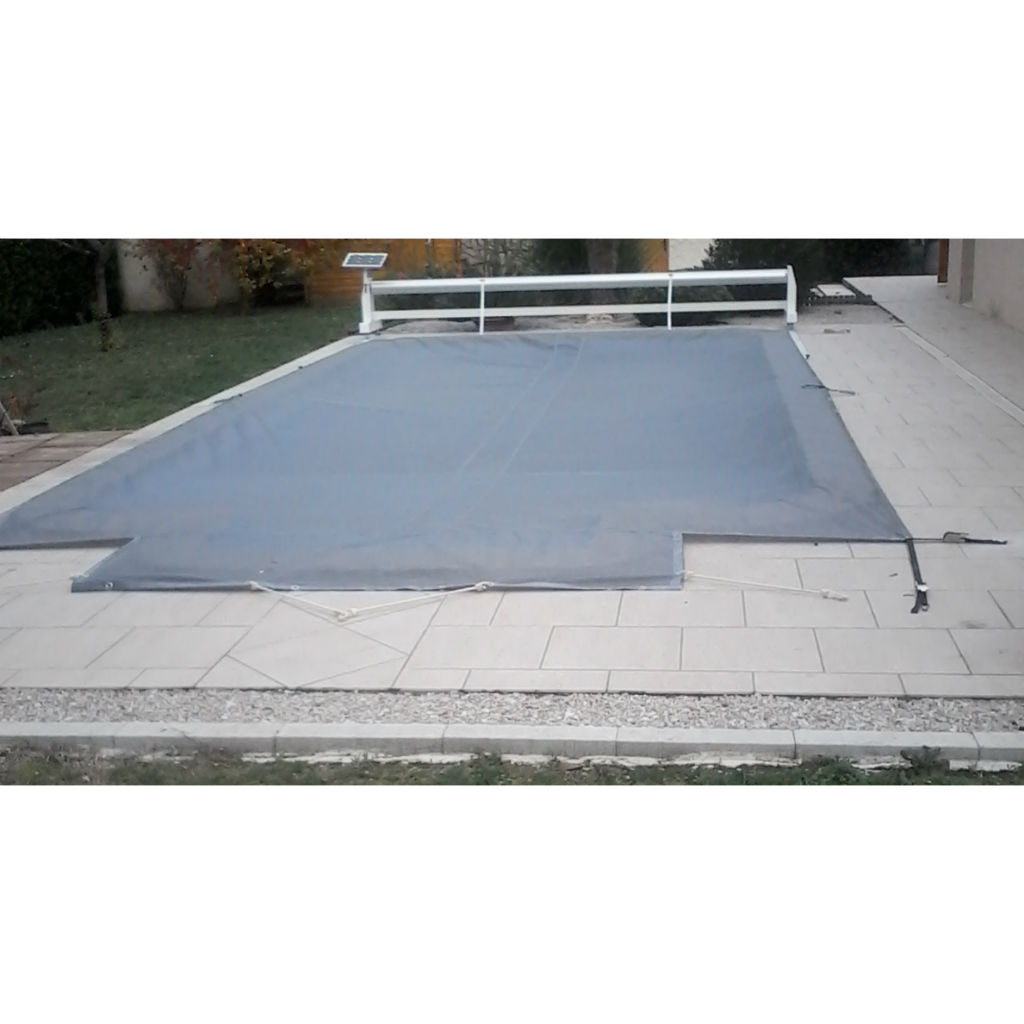 Secu Volet dedans Filet Protection Piscine