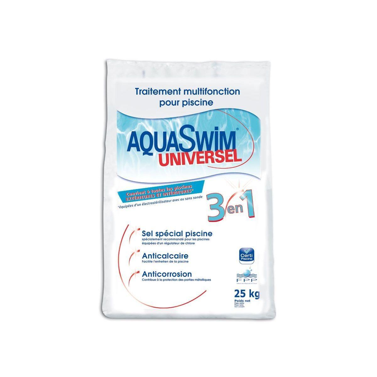 Sel De Piscine Pour Électrolyse Aquaswim Universel 3 En 1 ... à Sel De Piscine