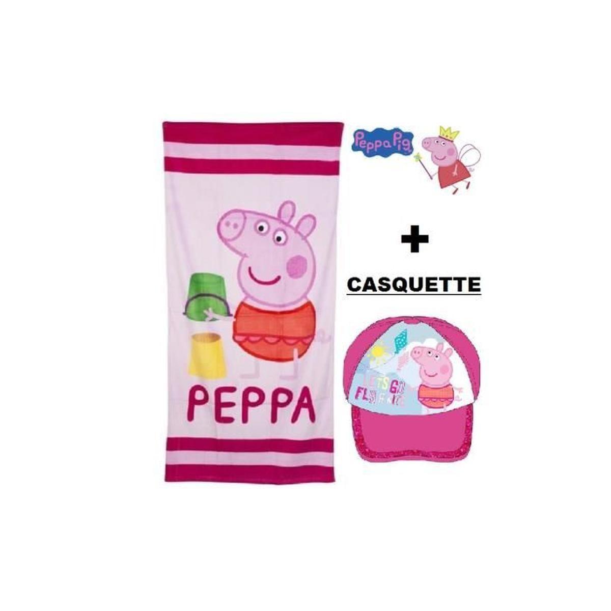 Serviette Peppa Pig avec Peppa Pig À La Piscine