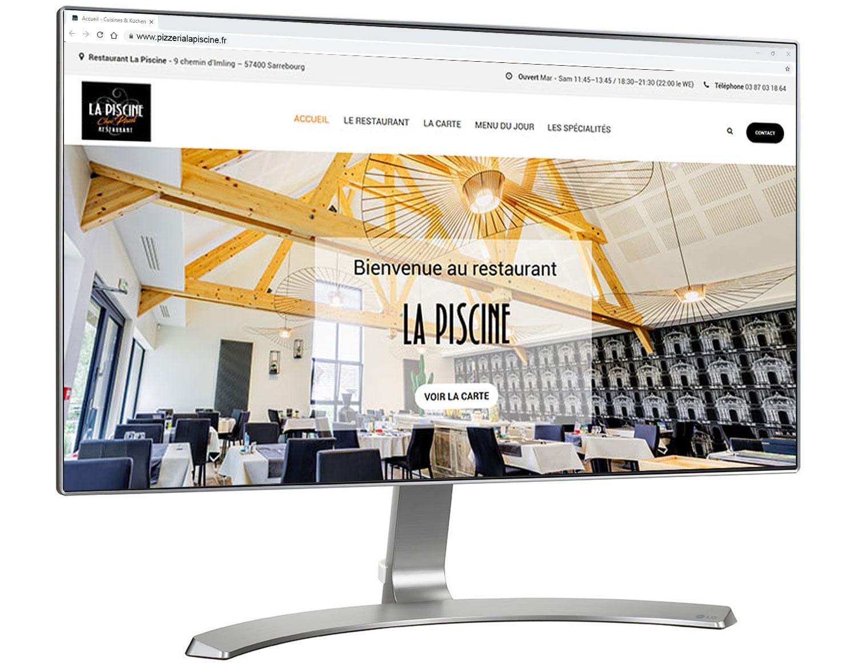 Site Internet Restaurant Pizzéria - Le Point Com' avec Restaurant La Piscine Sarrebourg