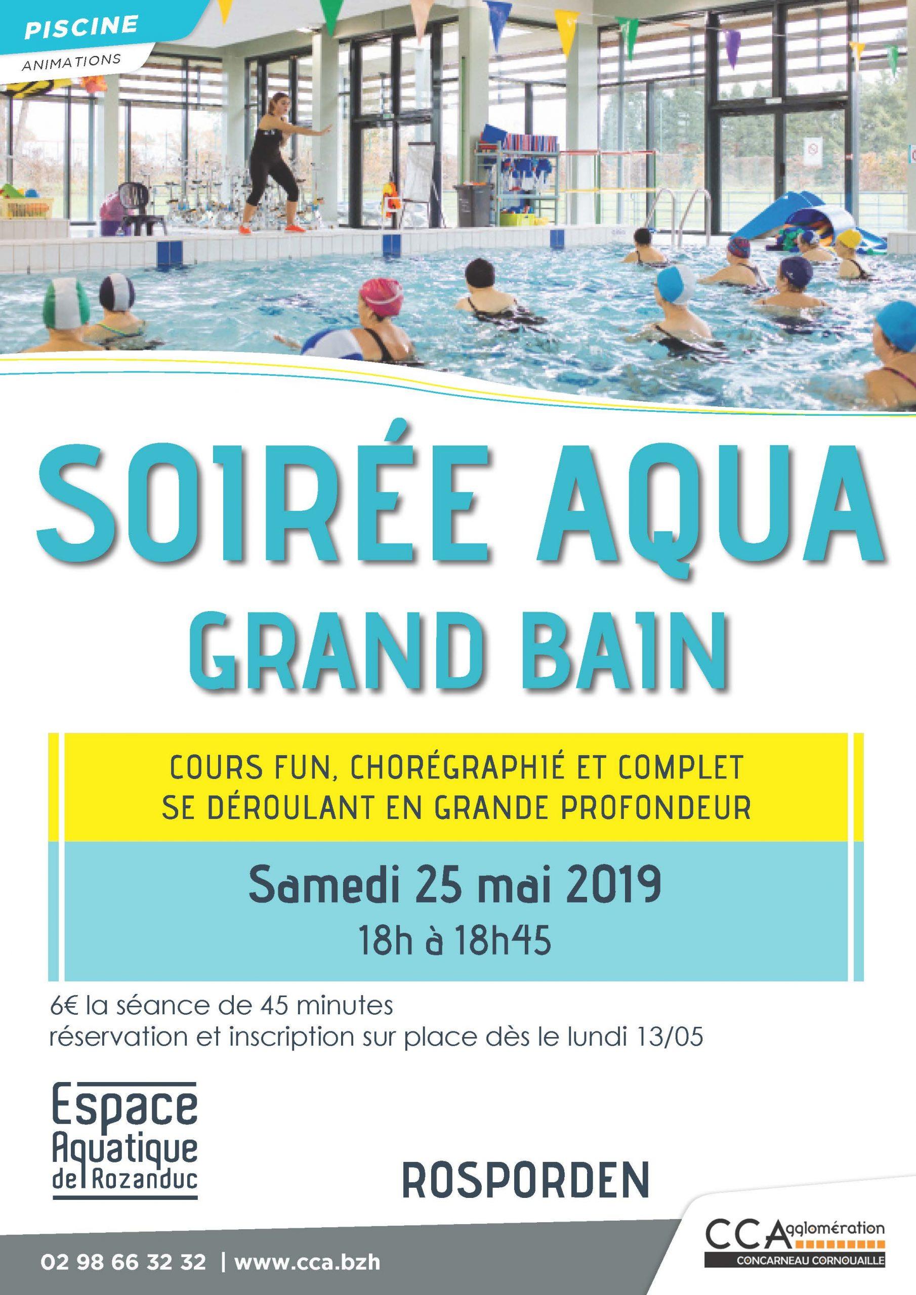 Soirée Aqua-Grand Bain 25 Mai 2019 À Rozanduc concernant Piscine Concarneau Horaires