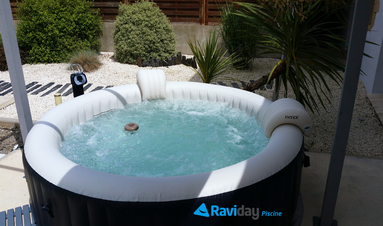 Spa Gonflable 6 Places Intex Pure Spa Plus Bulles Bleu Nuit ... à Raviday Piscine