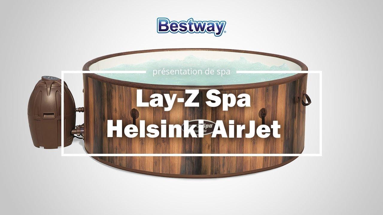 Spa Gonflable Bestway Lay-Z-Spa Helsinki [Caractéristiques] encequiconcerne Raviday Piscine