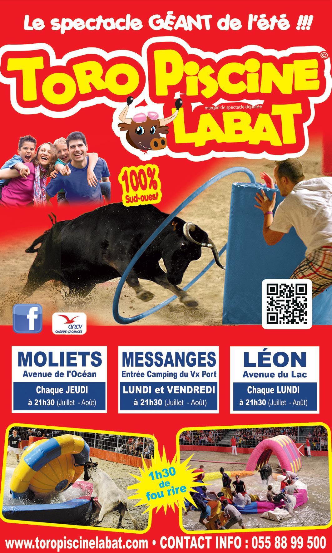 Spectacle Toro Piscine Labat À Messanges Le 01/07/2019 ... dedans Toro Piscine Labat