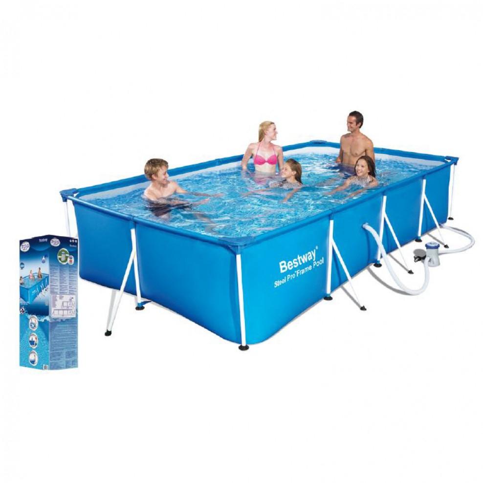 Splash Frame Pool Set 400 X 211 X 81 Cm pour Rustine Pour Piscine