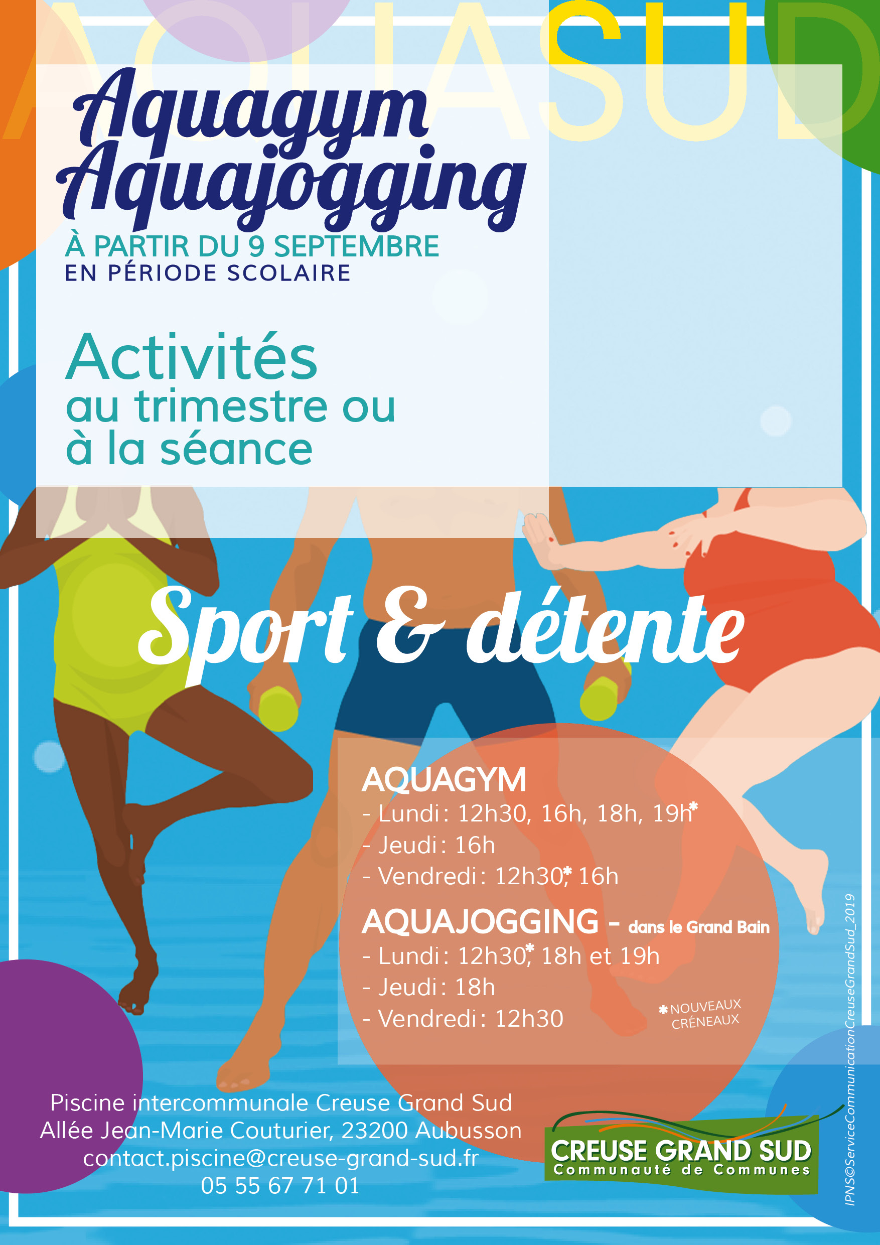 Sports Aquatiques – Piscine Aquasud | Communauté De Communes dedans Piscine Aubusson