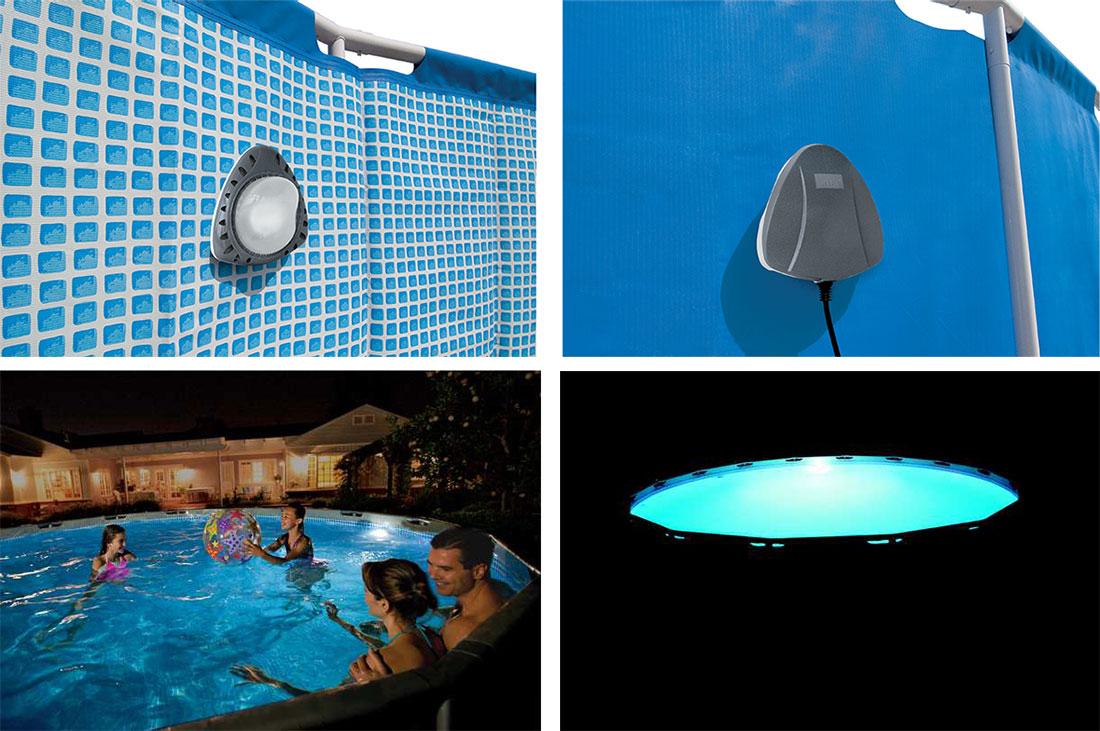 Spot De Piscine Led Magnétique Multicolore Pour Piscine Intex intérieur Eclairage Piscine Sans Fil