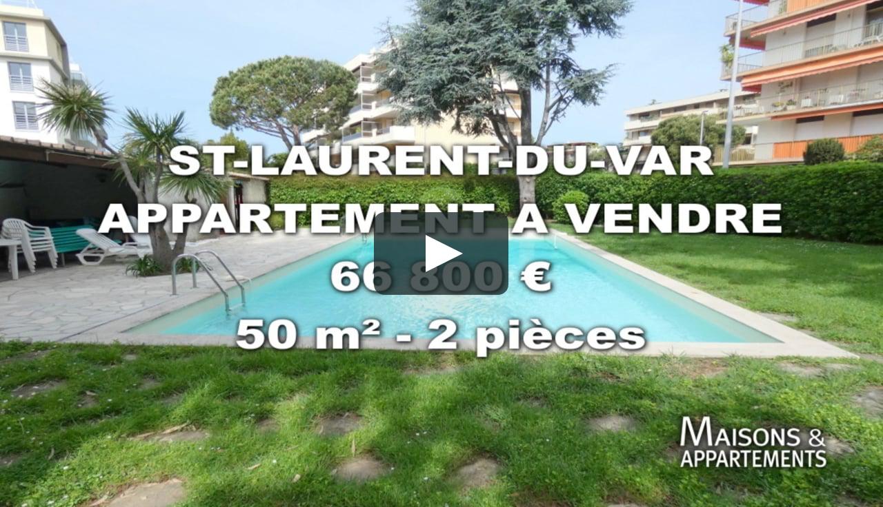St-Laurent-Du-Var - Appartement A Vendre - 66 800 € - 50 M² - 2 Pièces tout Piscine Saint Laurent Du Var
