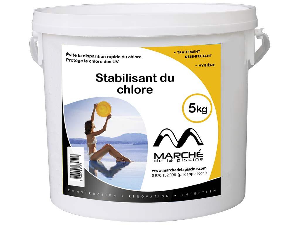 Stabilisant Du Chlore Piscine Marchedelapiscine Poudre En Seau 5Kg concernant Stabilisant Piscine