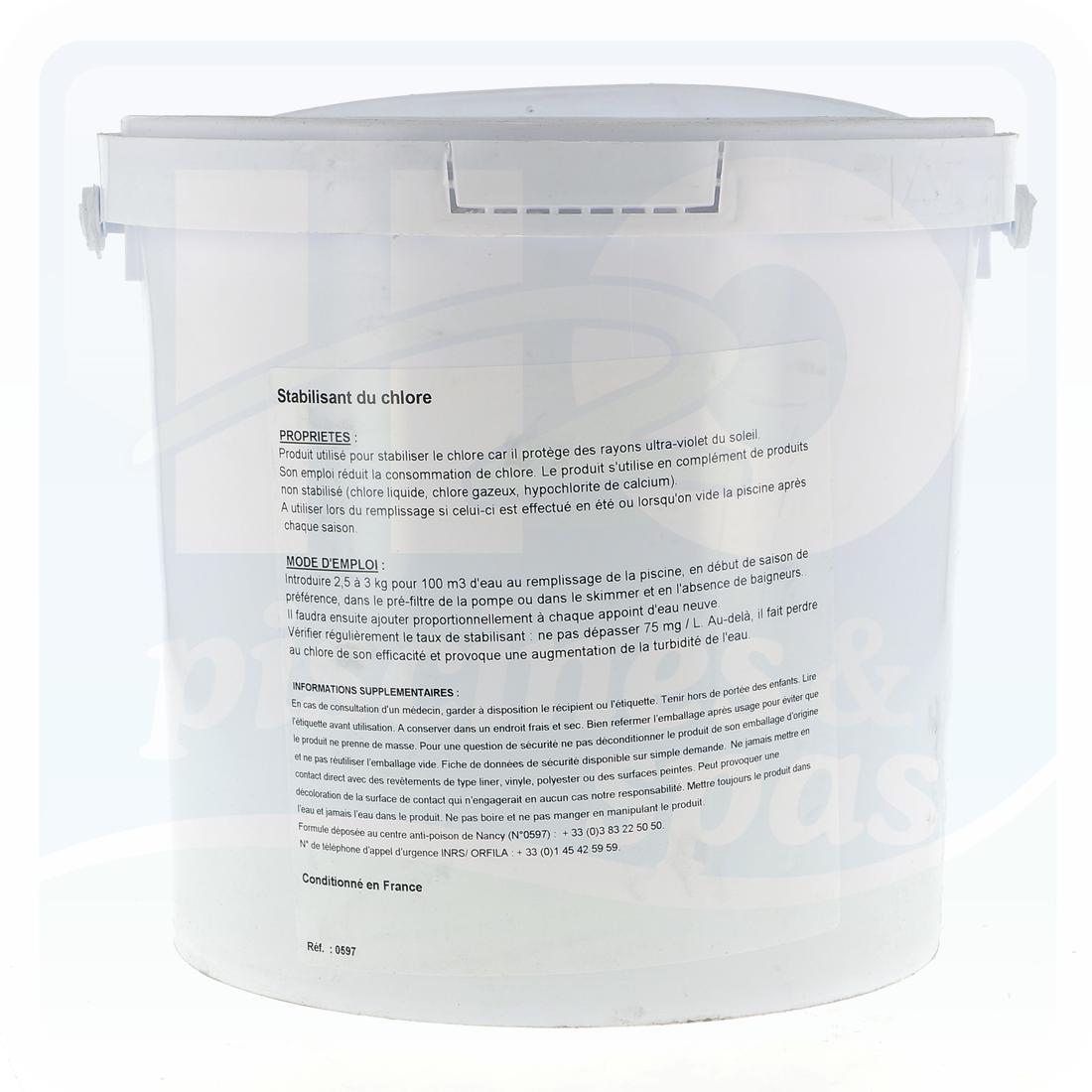 Stabilisant En Poudre - Seau De 5 Kg - H2O Piscines & Spas tout Stabilisant Piscine
