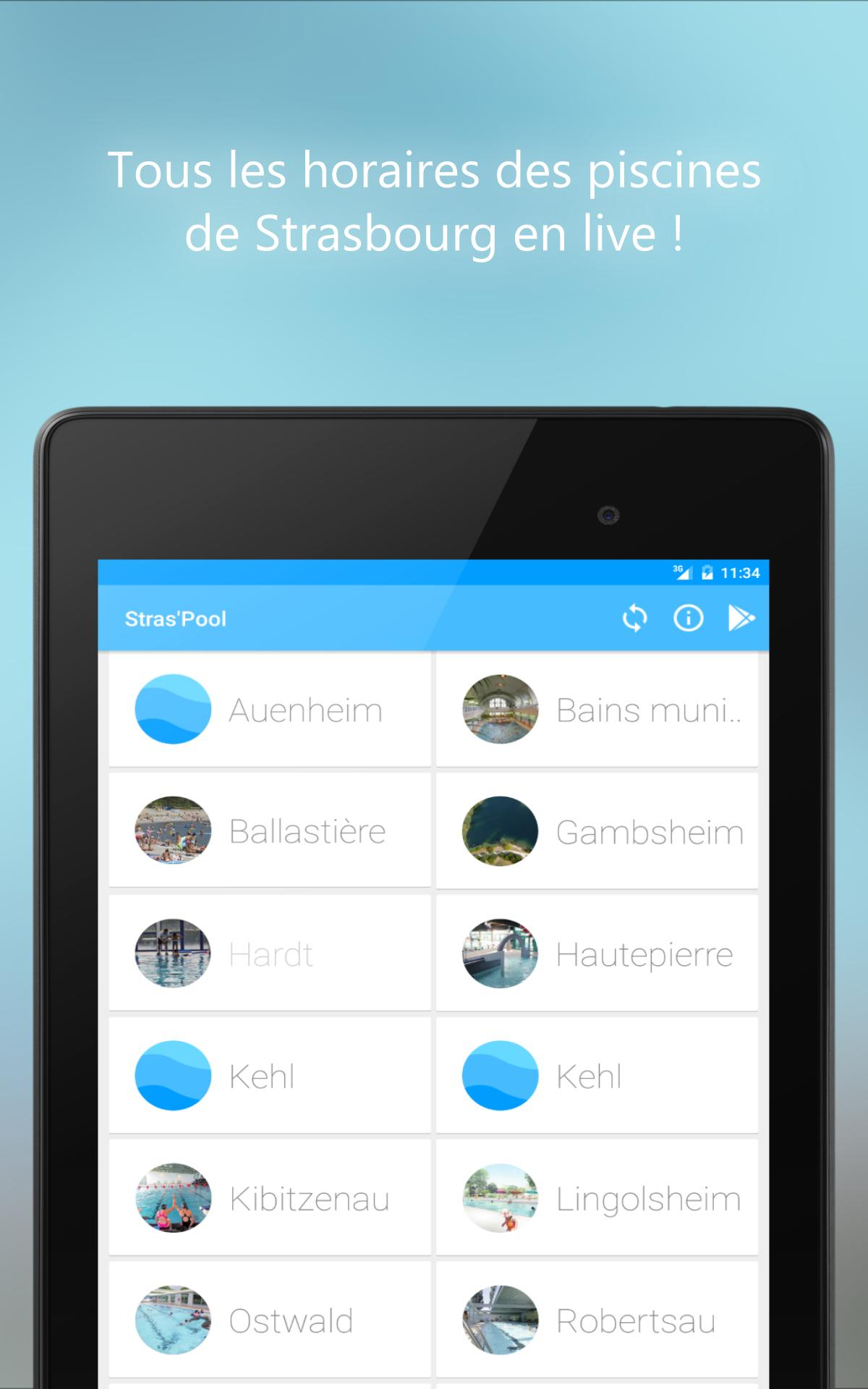 Stras'pool (Horaires Piscines) For Android - Apk Download dedans Piscine De La Hardt
