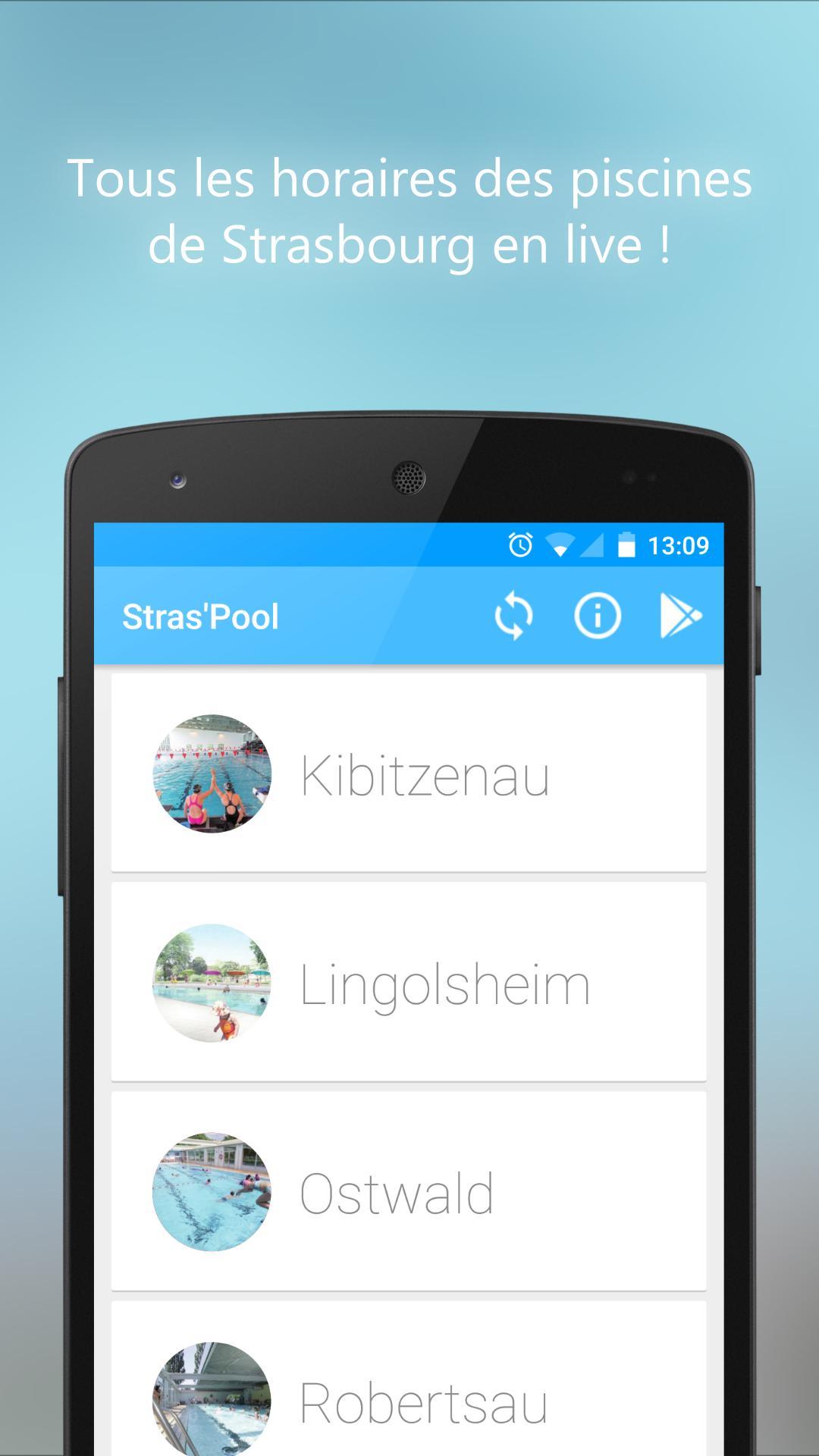 Stras'pool (Horaires Piscines) For Android - Apk Download encequiconcerne Piscine Lingolsheim Horaires