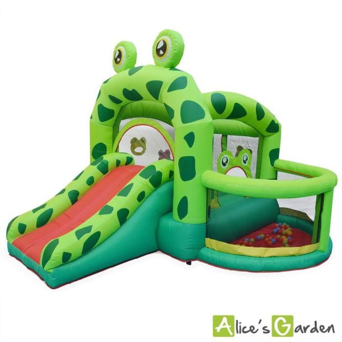 Structure Gonflable Kermit 3,2M - Toboggan Gonflable ... destiné Aire De Jeux Gonflable Piscine