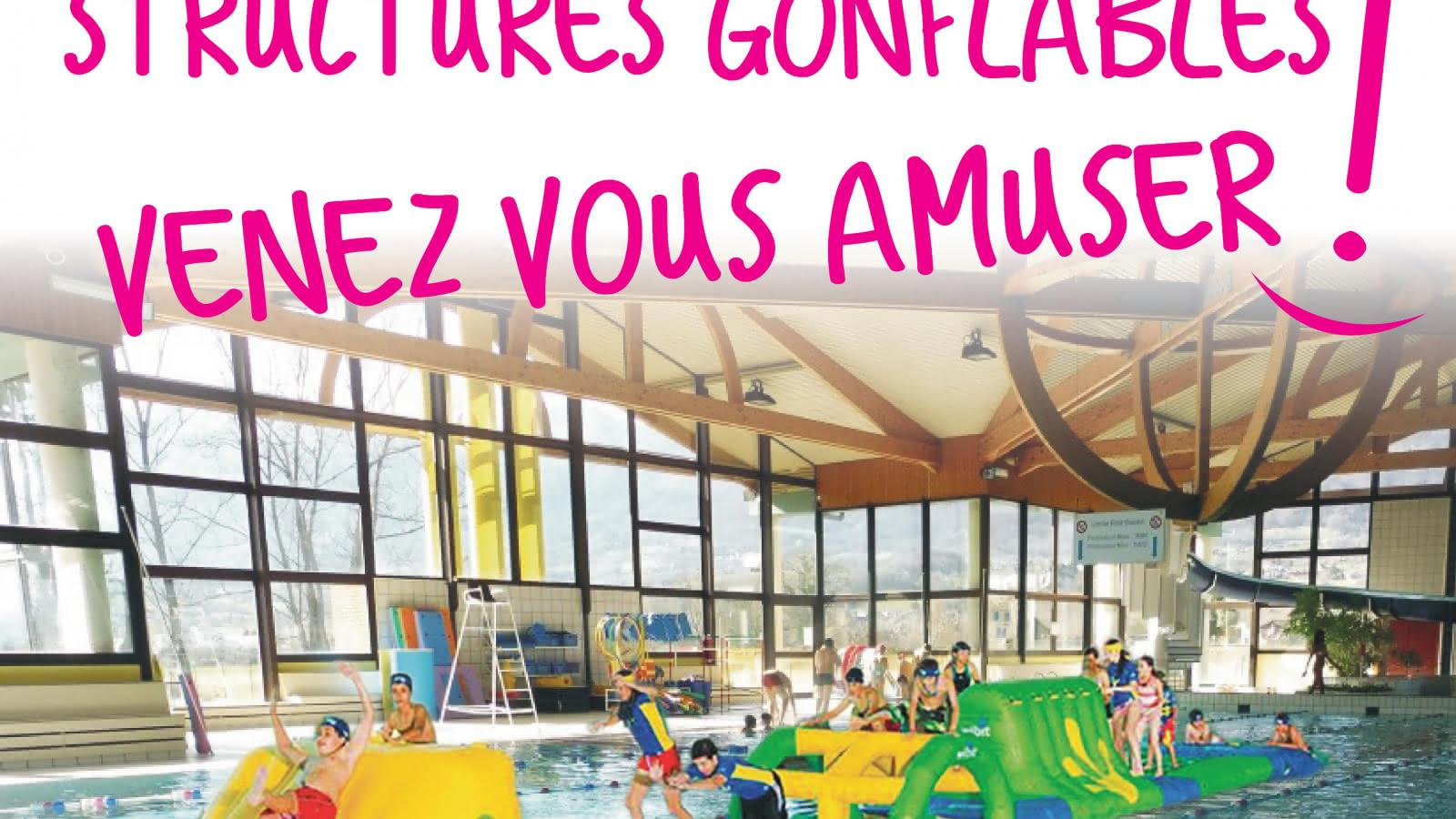 Structures Gonflables : Venez Vous Amuser À La Piscine De ... pour Piscine Gilly Sur Isère