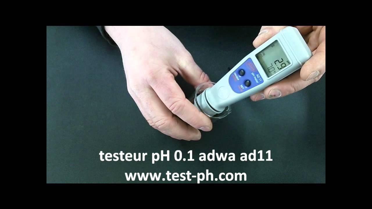 Stylo Testeur Ph Electronique Ad11 Adwa Precision 0.1 - tout Testeur Piscine Électronique
