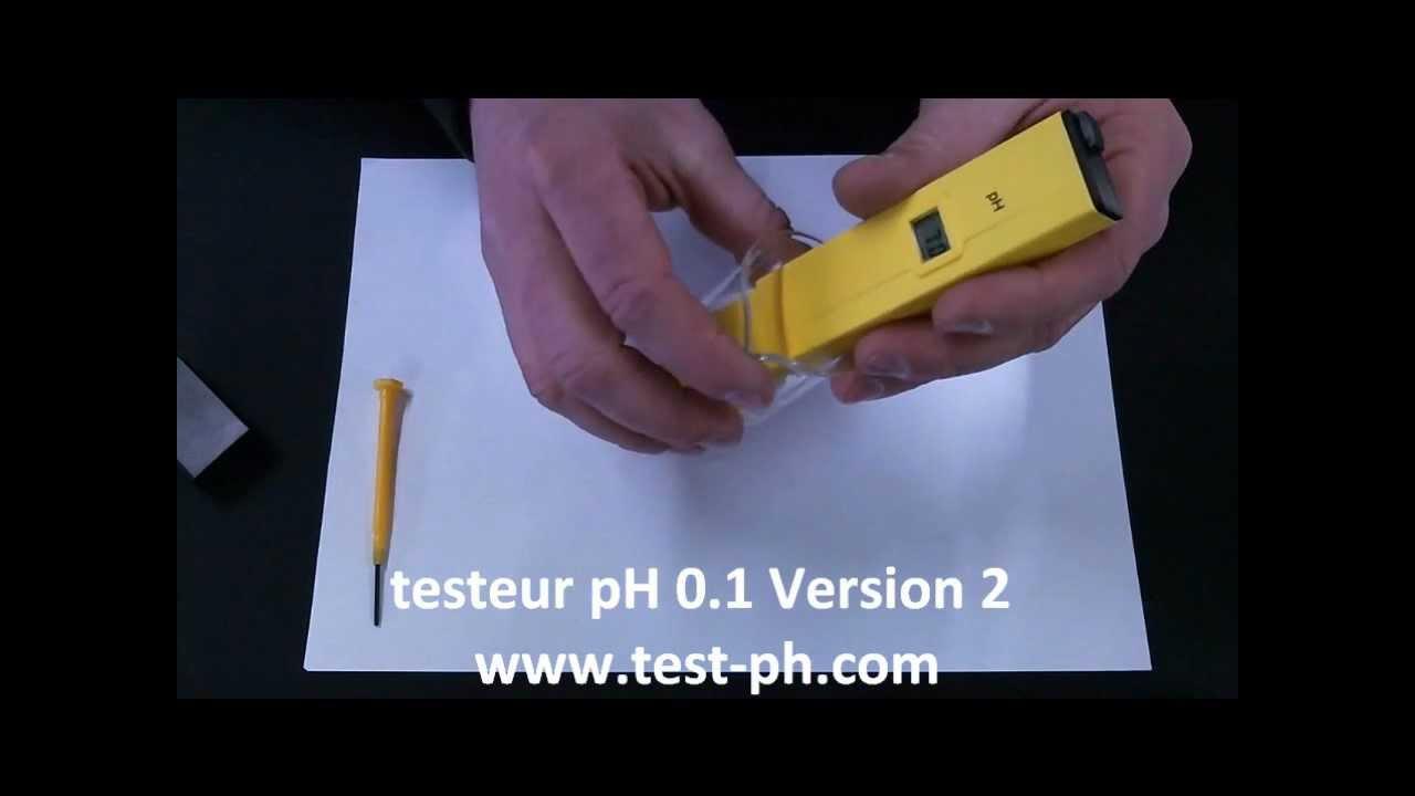 Stylo Testeur Ph Électronique V2 Precision 0.1 - concernant Testeur Piscine Électronique