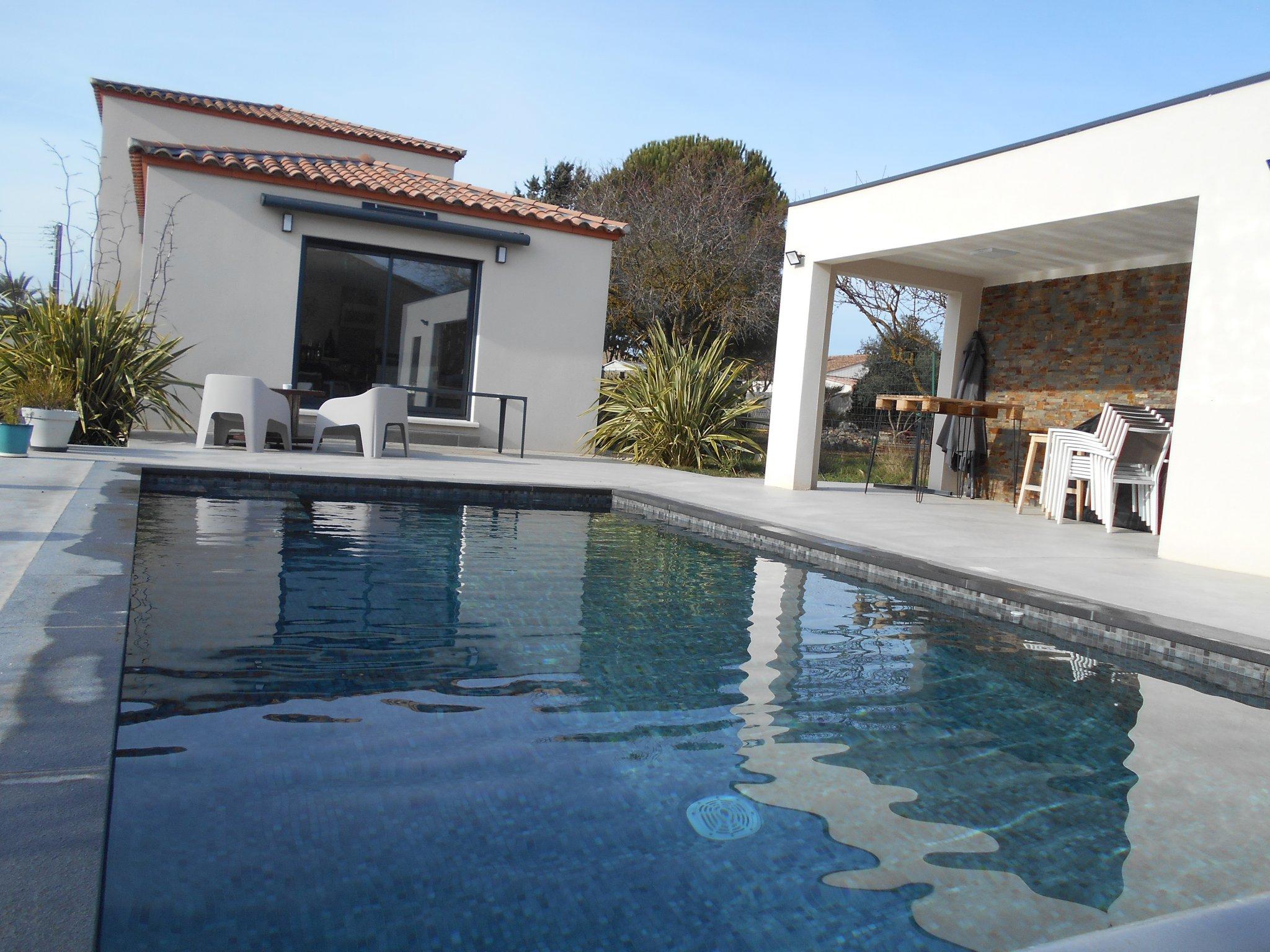 Superbe Villa Contemporaine Avec Piscine avec Piscine Fleury D Aude
