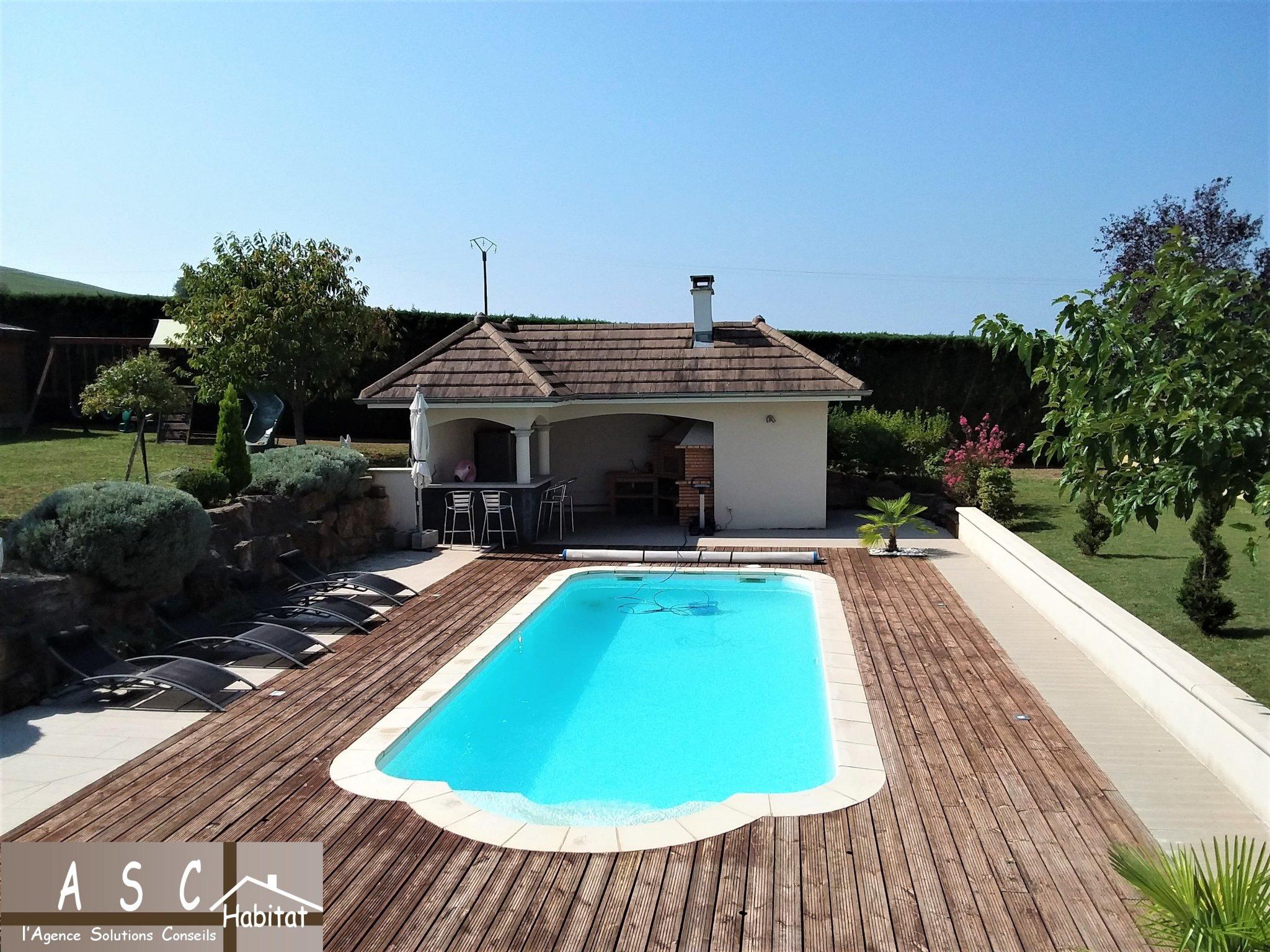 Superbe Villa Piscine Belle Vue Sur Campagne à Piscine Les Abrets