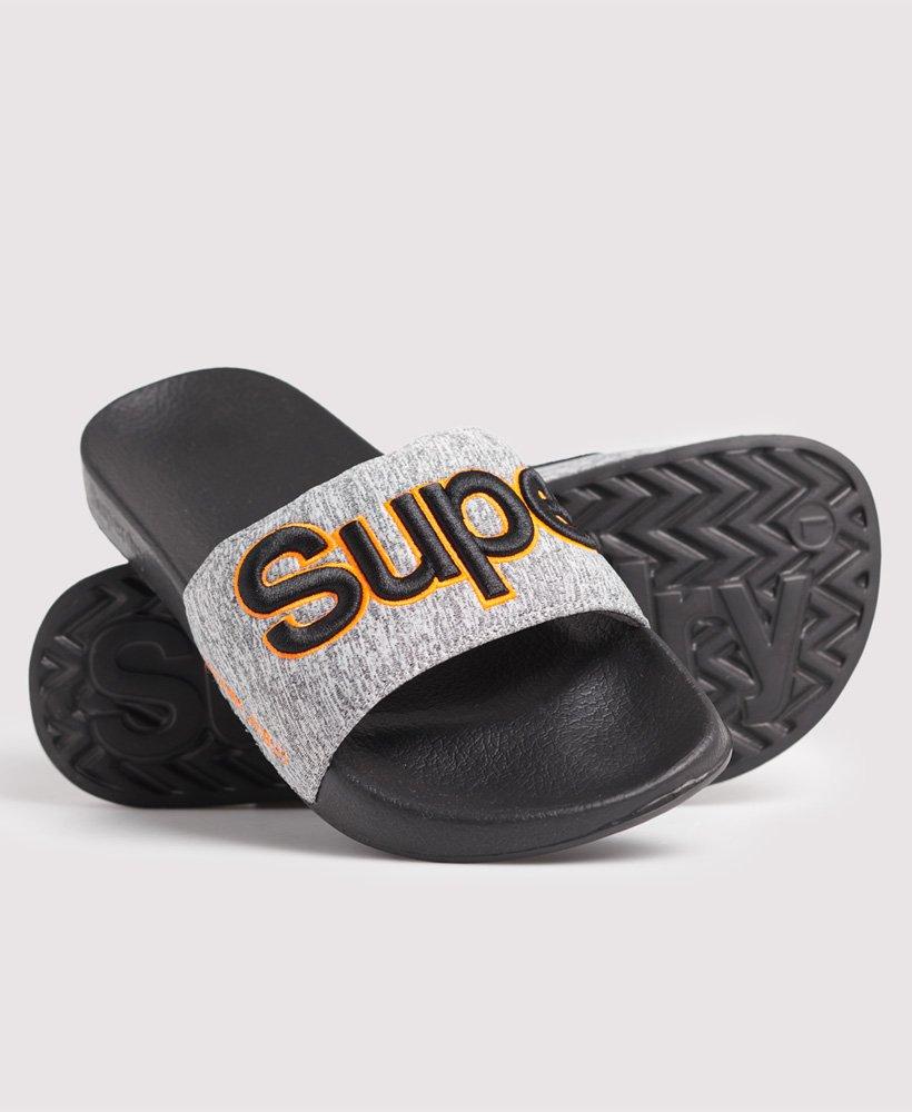 Superdry Sandales De Piscine Classic Brodées - Homme Claquettes dedans Sandales De Piscine