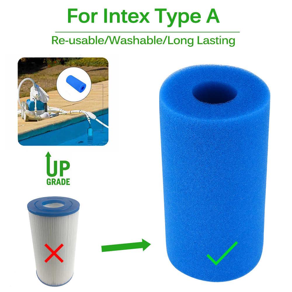 Swimming Pool Foam Filter Intex Type A Sponge Reusable Washable Biofoam  Filter Clean Water Foam Pool Accessories Piscina Piscine encequiconcerne Filtre Piscine Bestway Type 2
