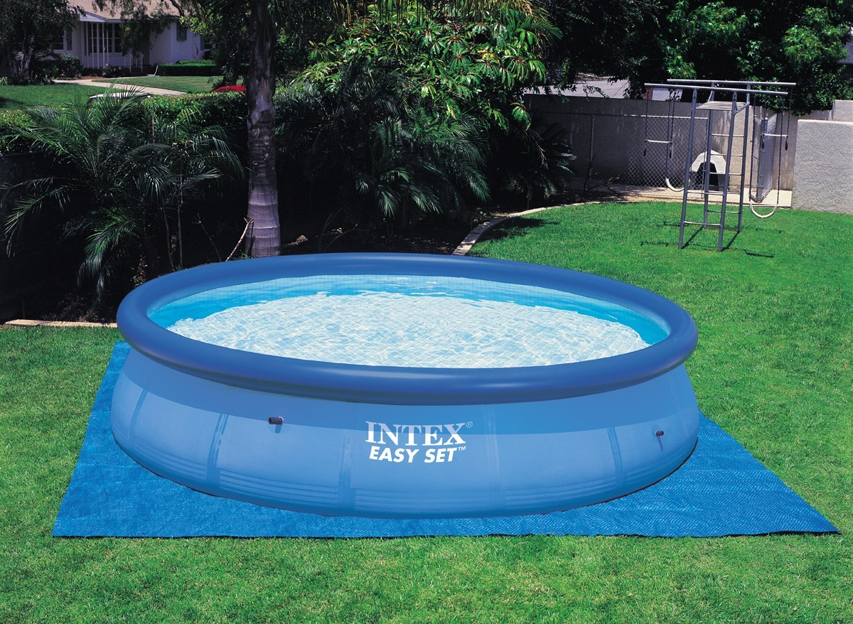 Tapis De Sol Piscine - Intex à Piscine Hors Sol Intex Tubulaire