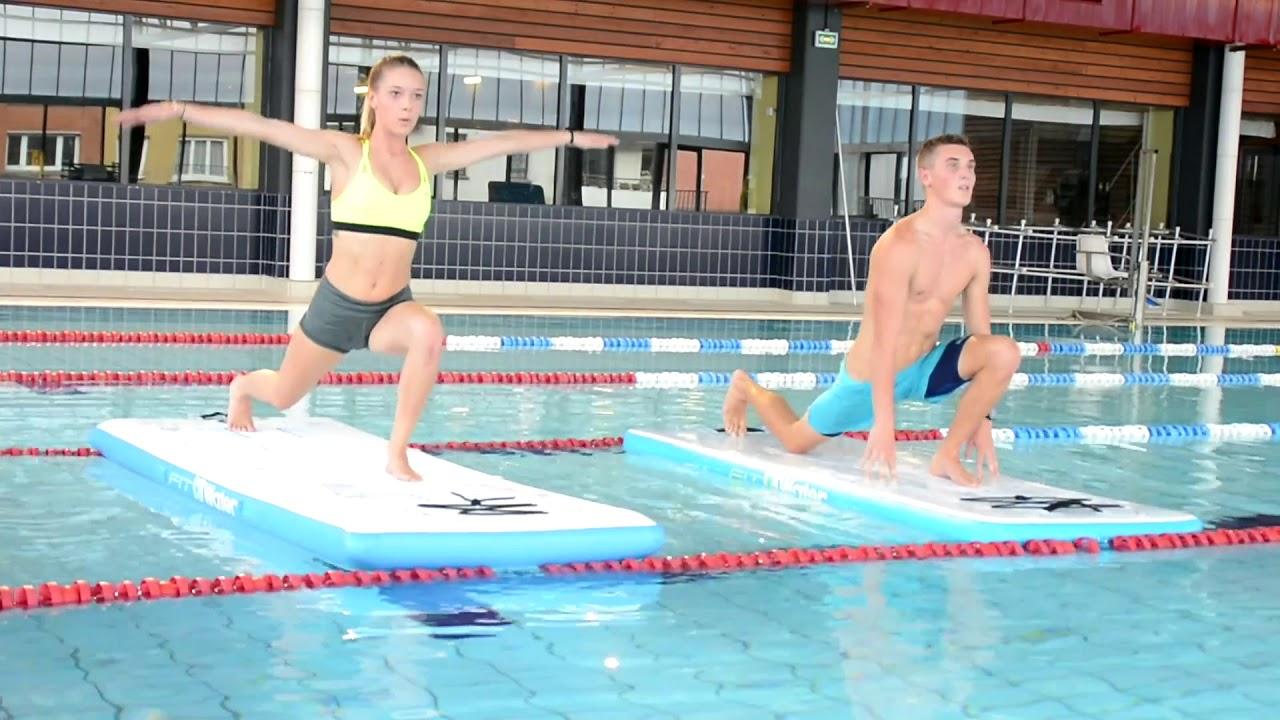 Tapis Flottant Fit4Water -Exercices Fitness -Abysse-Sport avec Tapis Flottant Piscine