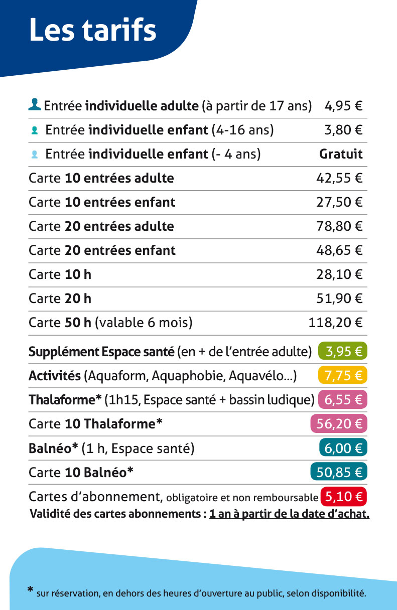 Tarifs - Lamballe Terre & Mer concernant Piscine Lamballe