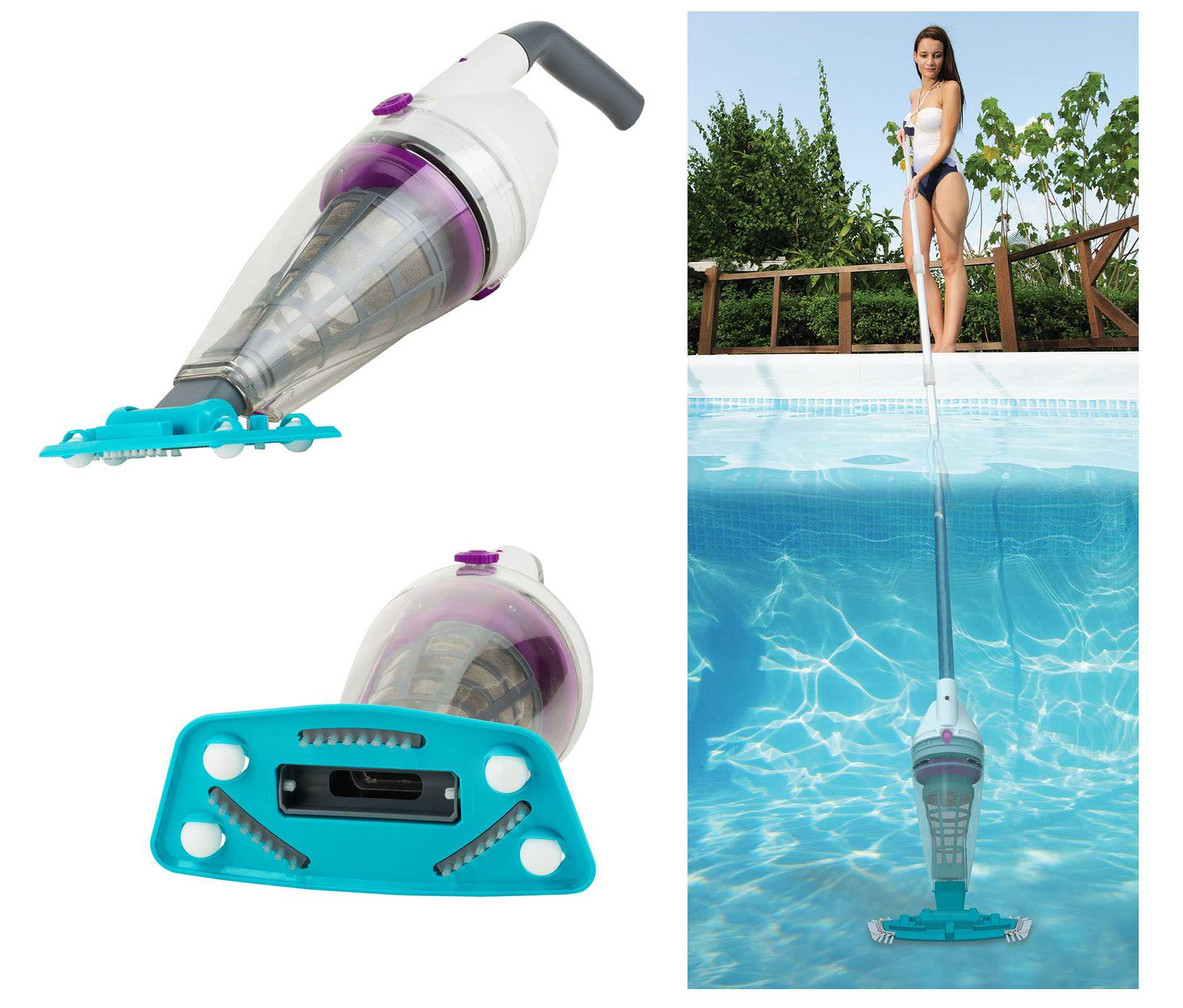 Telsa 50 Battery Vacuum Pool Cleaner avec Aspirateur Piscine Batterie