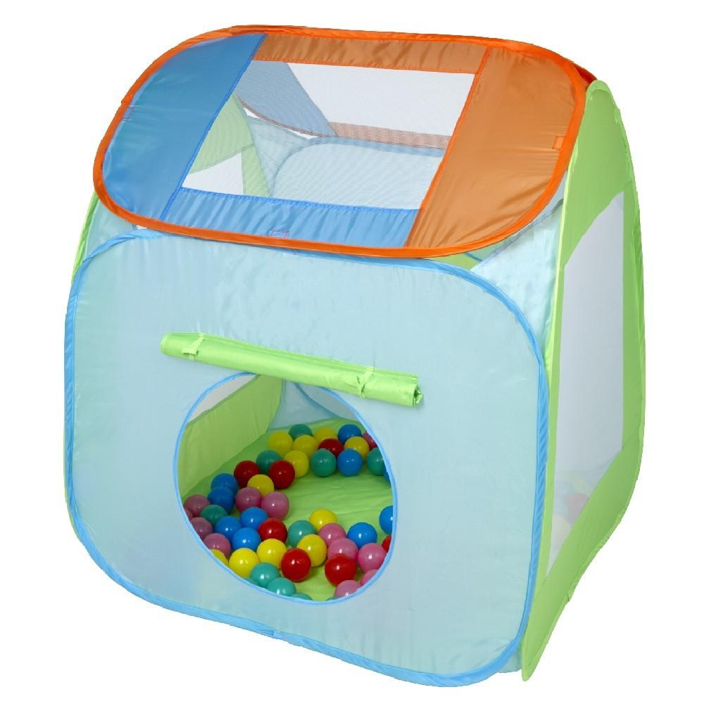 Tente Pliable Avec 100 Balles avec Piscine A Balle Gifi