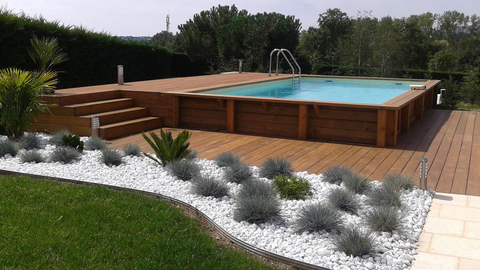 Terrasse Bois Avec Piscine Hors Sol concernant Sur Quoi Poser Une Piscine Hors Sol