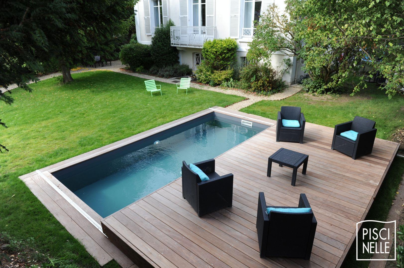 Terrasse Piscine Mobile : Le Rolling-Deck Piscinelle ... à Piscine Teck