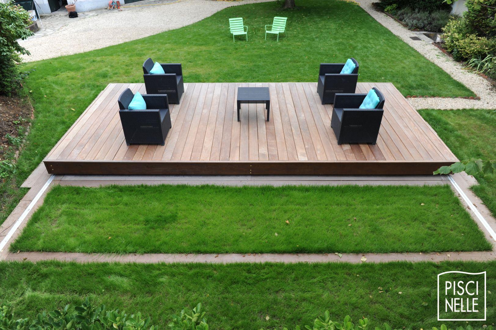 Terrasse Piscine Mobile : Le Rolling-Deck Piscinelle ... dedans Fabriquer Une Terrasse Mobile Pour Piscine