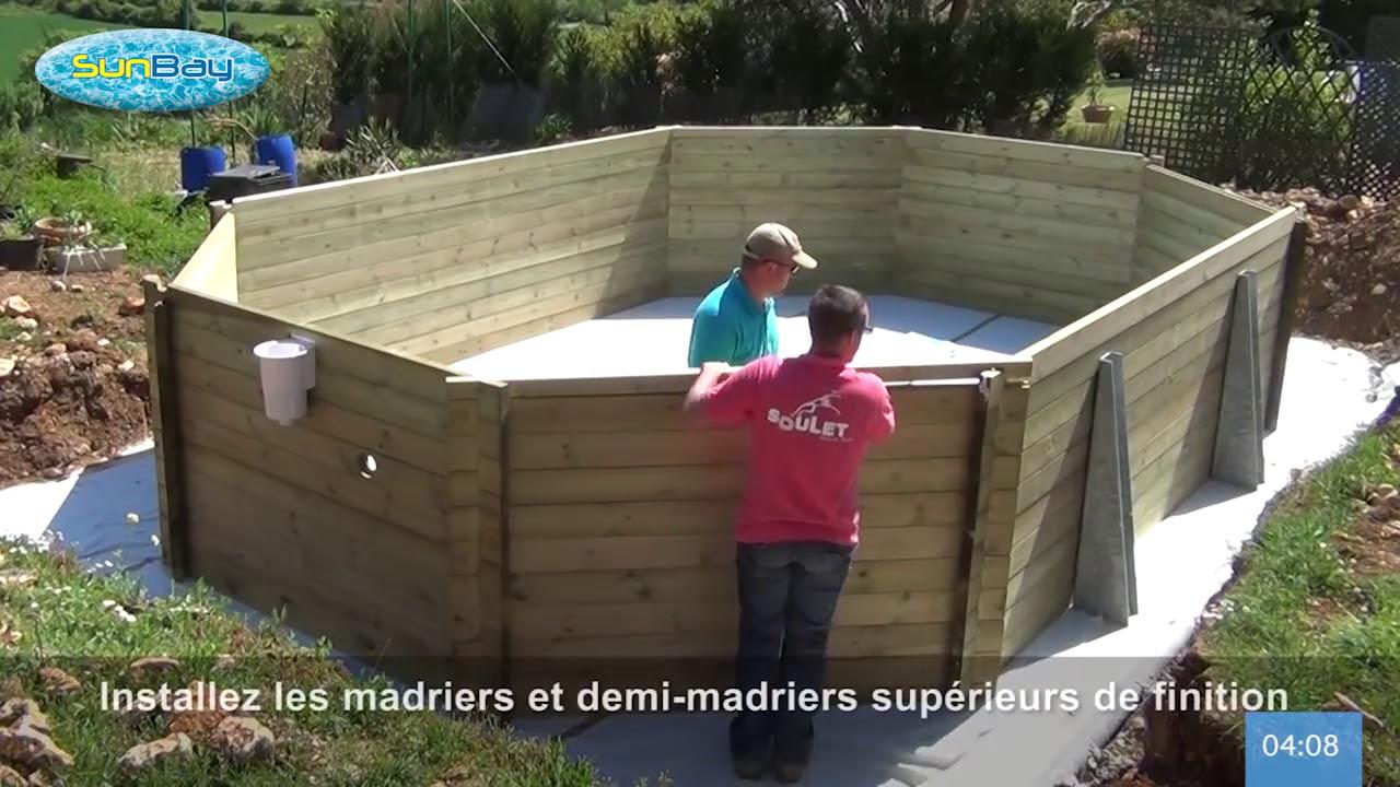 Terrassement, Coulage Dalle Et Installation Piscine Sunbay Bois intérieur Dalle Pour Piscine Hors Sol