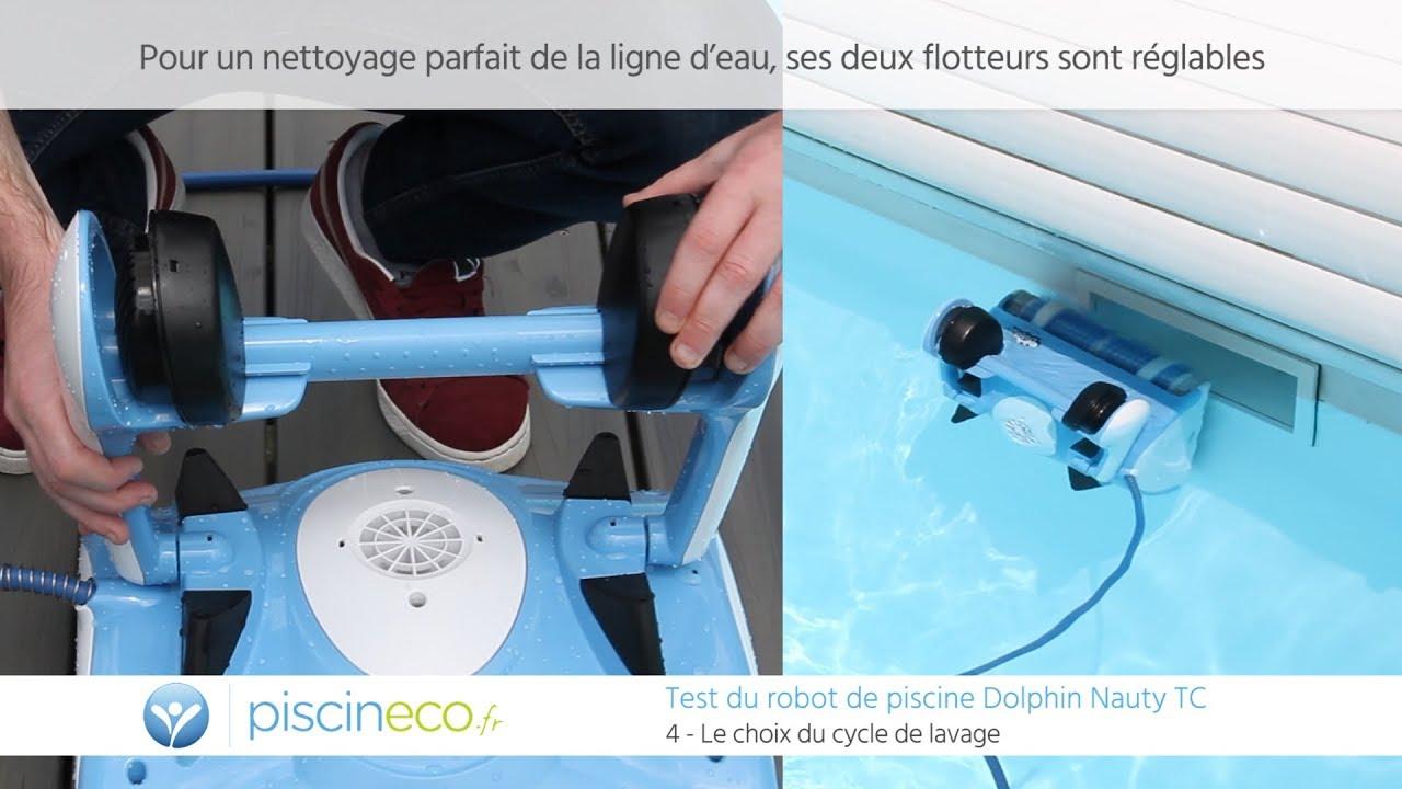 Test En Piscine Du Robot Dolphin Nauty Tc pour Comparatif Robot Piscine