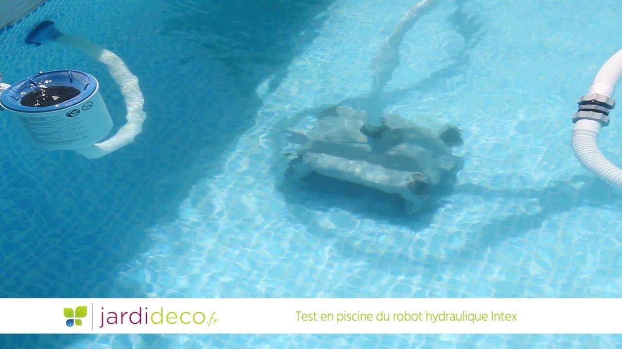 Test En Piscine Du Robot Hydraulique Intex - Réf 28001 tout Refoulement Piscine